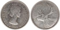 Canada 25 Cents 1956 - Elisabeth II - Argent