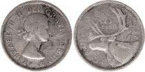 Canada 25 Cents 1957 - Elisabeth II - Argent