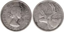Canada 25 Cents 1957 - Elisabeth II - Argent