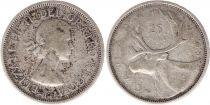 Canada 25 Cents 1959 -  Elisabeth II - Silver