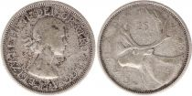 Canada 25 Cents 1959 - Elisabeth II - Argent