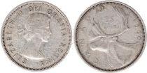Canada 25 Cents 1960 - Elisabeth II - Argent