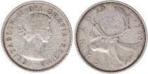 Canada 25 Cents 1960 - Elisabeth II - Argent
