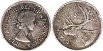 Canada 25 Cents 1963 -  Elisabeth II - Silver