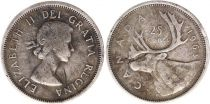 Canada 25 Cents 1963 - Elisabeth II - Argent
