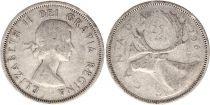 Canada 25 Cents 1964 - Elisabeth II - Argent