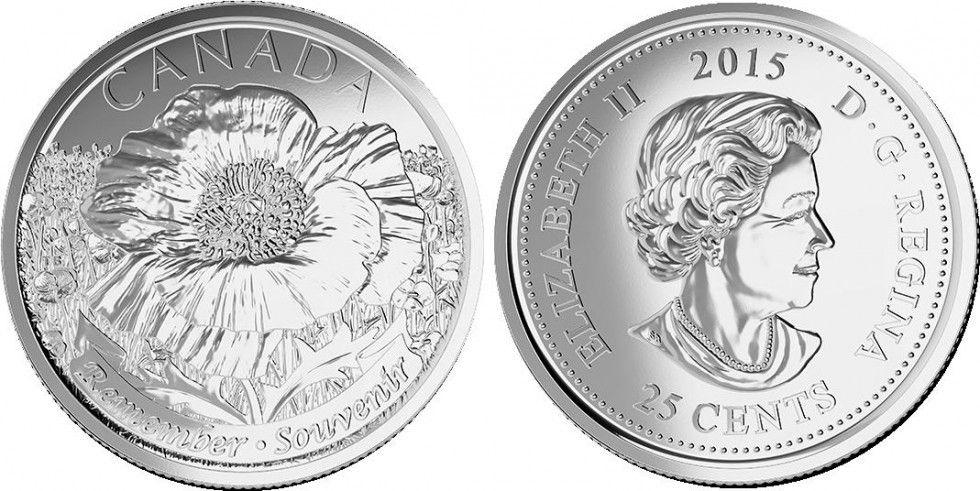 Canada 25 Cents Coquelicot - 2015