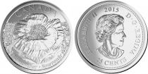 Canada 25 Cents Flower - 2015