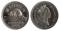 Canada 5 Cents Elisabeth II - Castor