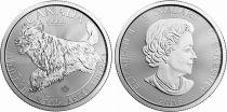Canada 5 Dollars Elisabeth II - 1 Once Loup Argent 2018