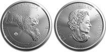 Canada 5 Dollars Elisabeth II - 1 Once Lynx Argent 2017