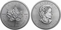 Canada 5 Dollars Elisabeth II - 1 Once Maple Leaf Argent 2018
