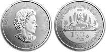 Canada 5 Dollars Elisabeth II - 1 Once Voyage Argent 1867-2017
