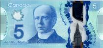 Canada 5 Dollars Sir Wilfried Laurier - Polymer - 2013 (2016)