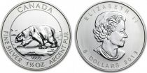 Canada 8 Dollars, Elisabeth II - Ours Polaire 1 1/2 Oz 2013