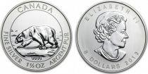 Canada 8 Dollars, Elizabeth II - Polar Bear 1 1/2 Oz 2013