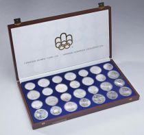 Canada Coffret 28 monnaies 5 et 10 Dollars  JO de Montréal 1976 - en coffret