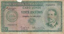 Cap-Vert 20 Escudos 1972 - Serpa Pinto, femme, navire