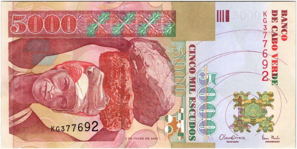 Cap-Vert 5000 Escudos Femme - Forteresse 2000