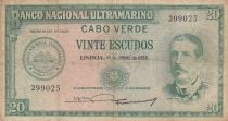 Cape Verde 20 Escudos Serpa Pinto - 1972 - Fine - P.47a