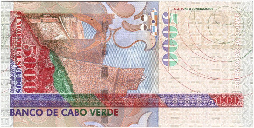Cape Verde 5000 Escudos Woman carrying stones - 2000