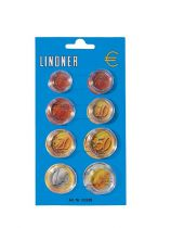 Capsules for a complete set of 8 Euro coins
