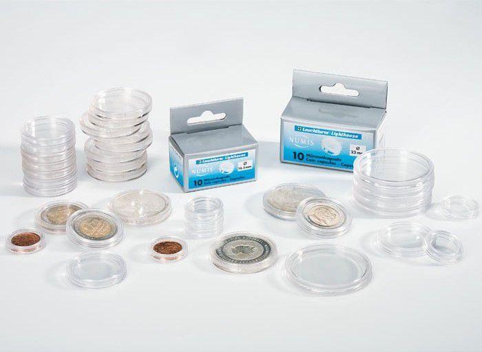 Capsules rondes pour pièces