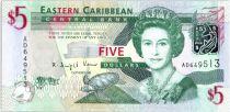 Caraïbes Britannique 5 Dollars Elizabeth II - Amirauté - Saint Vincent - 2008