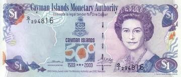 Cayman Islands 1 Dollar Elisabeth II - 500 th Anniversary of Discovery - 2003