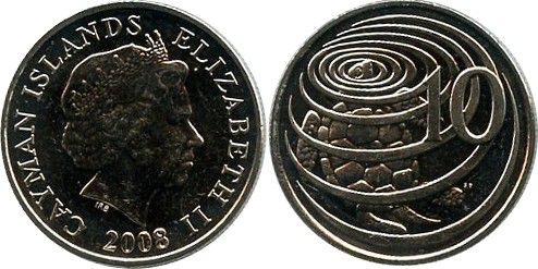 Cayman Islands 10 Cents Elizabeth II - Turtle