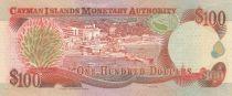 Cayman Islands 100 Dollars 1998 - Elizabeth II, harbor view - Serial C1