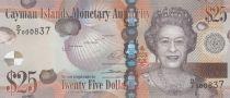 Cayman Islands 25 Dollars Elizabeth II - Turtle - 2014 (2018) Serial D2 - UNC