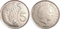 Cayman Islands 5 Cent Elizabeth II - Lubster 1999 to 2008