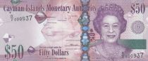 Cayman Islands 50 Dollars Elizabeth II - Fish 2014 (2018) - UNC - Serial D2