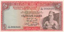 Ceilán 5 Rupees King Parakkrama - 1974
