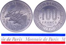 Central African Republic 100 Francs - 1971 - Test strike