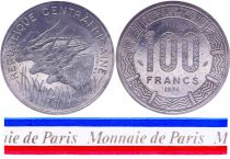 Central African Republic 100 Francs - 1975 - Test strike