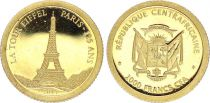 Central African Republic 10000 Francs - 125 years of Eiffel tower - 2014 - Gold
