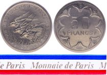 Central African Republic 50 Francs - 1976 - Test strike