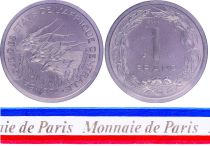 Central African States 1 Franc - 1974 - Test strike