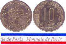 Central African States 10 Francs - 1974 - Test strike