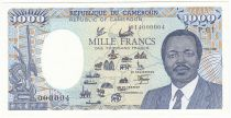 Central African States 1000 Francs 1985 - Low number 014000004 - P.26