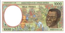 Central African States 1000 Francs Young man - Harvesting coffee beans - 1999  - Central Africa