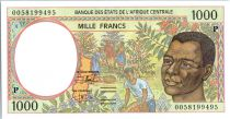 Central African States 1000 Francs Young man - Harvesting coffee beans - 2000 - Chad