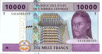 Central African States 10000 Francs - BEAC - 2002 (2019) - UNC- P.110 Td  - Congo
