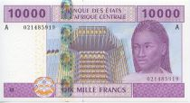 Central African States 10000 Francs Woman - Fisherman - 2002