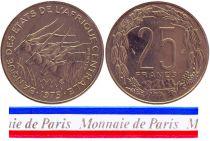 Central African States 25 Francs - 1975 - Test strike