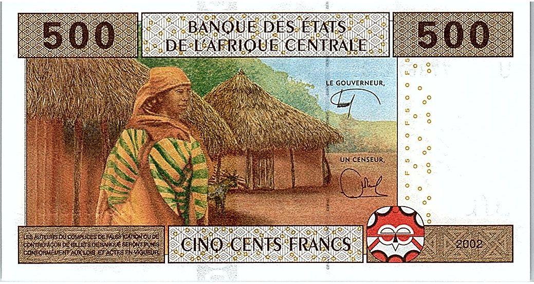 Central African States 500 Francs 2002 (2017)- Child, school, village - U = Cameroon - UNC -P.206 Ug