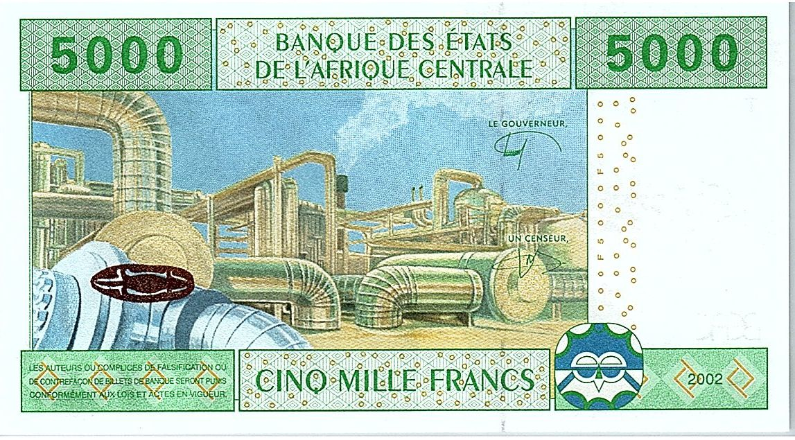 Central African States 5000 Francs - 2002 (2019) - UNC - P.109Td