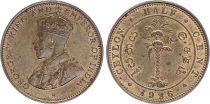 Ceylan 1/2 Cent Georges V - 1926 - SUP + - KM.106